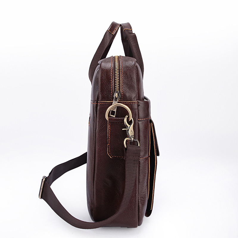 Genuine Leather Men Bag Bolso Hombre Leather Laptop Computer Bag Business Men Soft Handbags Briefcase Bolso Ordenador