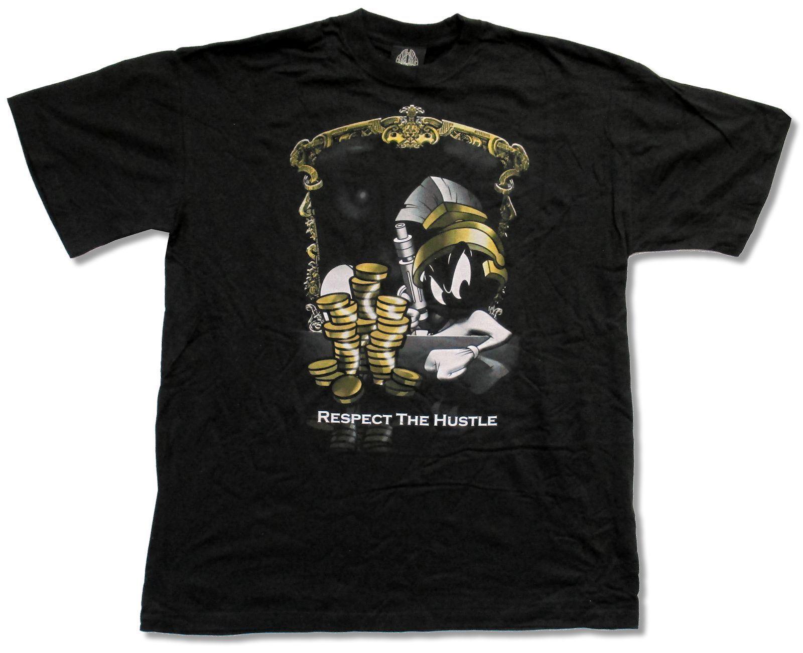 Design your own t-shirt miami - Shop Looney Tunes Hustle Urban Black T Shirt Marvin Martian New Official Adult Design Your Own T Shirt Cheap Sale