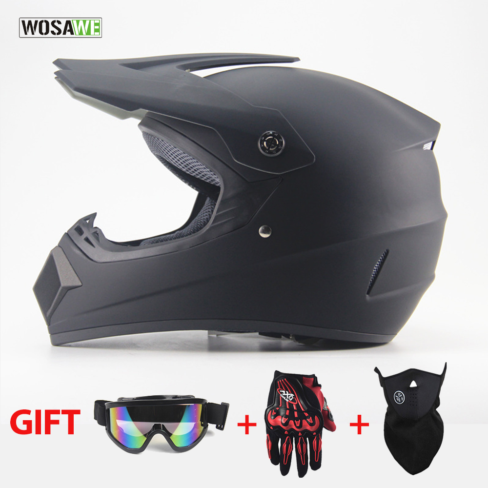 WOSAWE MTB Bike Bicycle Helmet Outdoor Off Road Motorcycle Dirt Bike Downhill Helmet full face capacete