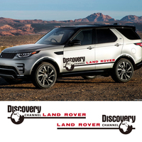 2 PCS Vinyl Car Doors Stickers Stripes Decals Discovery Car Styling Graphics For Land Rover Discovery Range Rover Freelander