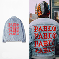 KANYE Kanye album to commemorate the old washing denim denim jacket to do damage