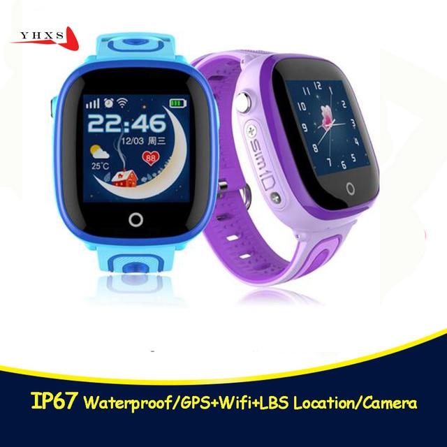 2018 neue IP67 Wasserdichte Smart Safe GPS LBS Lage Touchscreen SOS Rufen Monitor Armbanduhr Finder Tracker Uhr für Kid kind