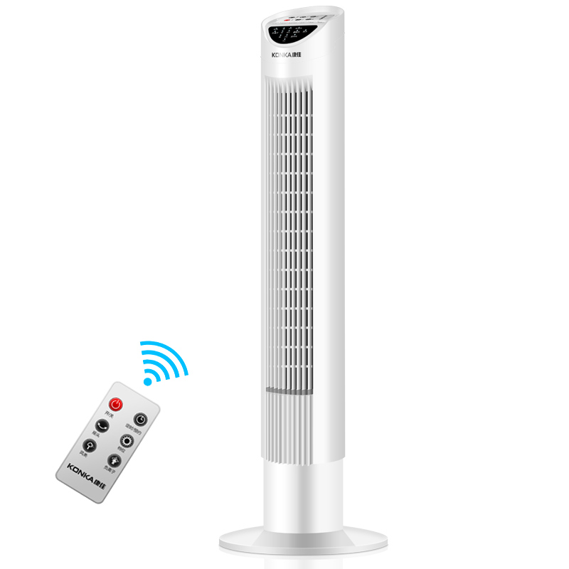 15Hour Timing Tower Fan Without Vane Table Floor Electric Cooling Fan Mute Leafless Fan Remote Control Vertical Negative Ion Fan multifunctional vertical stand cooling fan for ps4