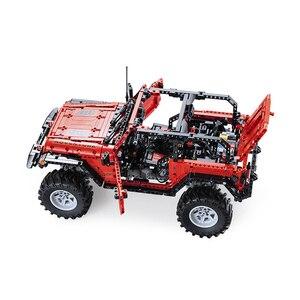 Image 3 - CADA télécommande Jeep Wrangler voiture technique aventurier blocs de construction briques ensemble enfants garçons jouets éducatifs anniversaires cadeaux