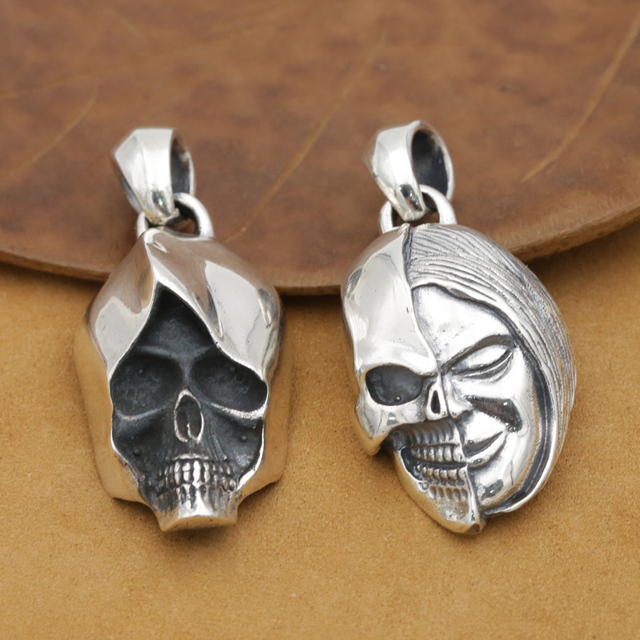 Handmade 925 silver skull pendant thai silver skeleton pendant handmade 925 silver skull pendant thai silver skeleton pendant vintage sterling silver skull pendant funk jewelry mozeypictures Choice Image