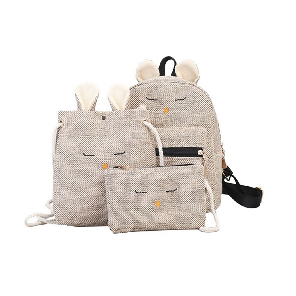 OCARDIAN Backpack 3 piece Set Women Girl Color Matching Wild Leisure Travel Bag Student Bag Backpack New Fashion Dropship May10-in Backpacks from Luggage & Bags on AliExpress