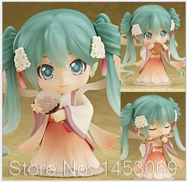 Nendoroid Hatsune Miku Mid-Autumn Miku #539 PVC Action Figure Collection Model Toy Doll 4 10cm KT1682 cute 10cm nendoroid hatsune miku mid autumn miku pvc action figure collection model toy doll christmas birthday gift with box