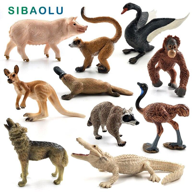 3pcs animalier sanglier modèle figurine science et nature jouets bureau