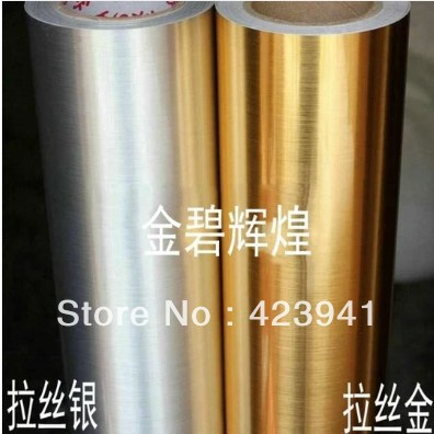 New 10m 60cm brushed silver pvc waterproof adhesive wall for Waterproof wallpaper paste