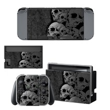 Skull Sticker For Nintendo Switch  Nintendoswitch NS Console Controller Decal Vinyl Skin Decals Protector Game Cover Accessories