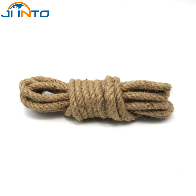 Party Decorations New Idea 6mm 10m / roll DIY manual Jute hemp rope Multipurpose Christmas Wedding decoration Crafts