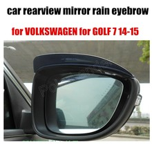 New Arrival 2 pcs car rearview mirror rain eyebrow for VOLKSWAGEN for GOLF 7 14-15 car rearview mirror Exterior Accessories