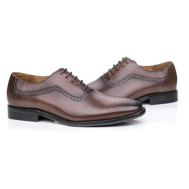 Dos Homens Coffee Sapatos Moda De Genuíno 1 Reino Lace up Couro Oxford Café Do Marrom Masculino Unido Marca brown Sapatas Casamento Vestido Negócio Bl02 ZnqxBdd