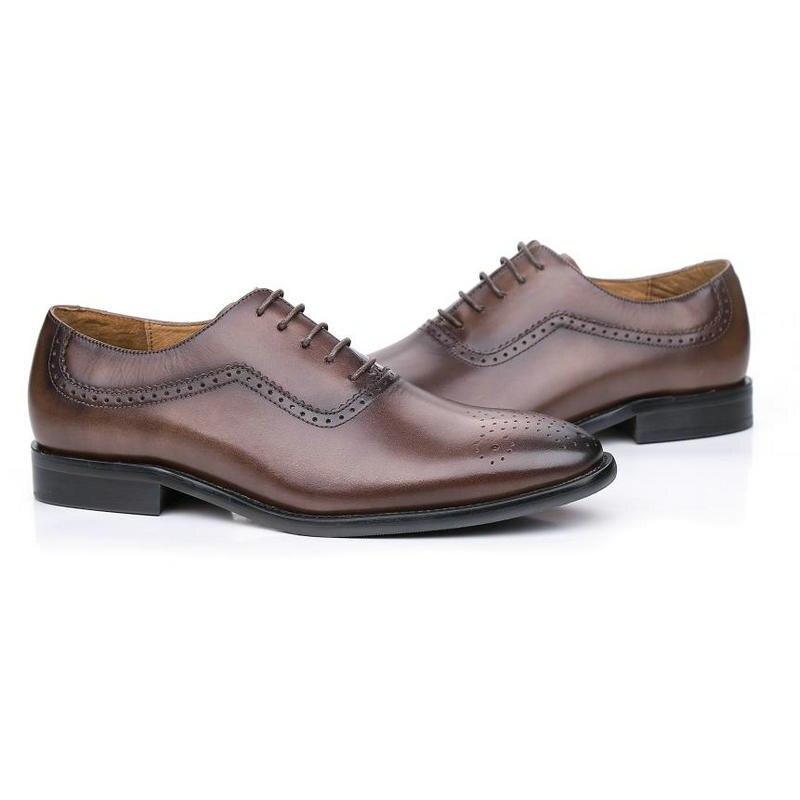 1 Oxford up Echtes Leder Männer Coffee Braun Lace Mode Marke Kaffee Uk Hochzeit brown Bl02 Männlichen Schuhe Kleid Business CBaxqwqd4