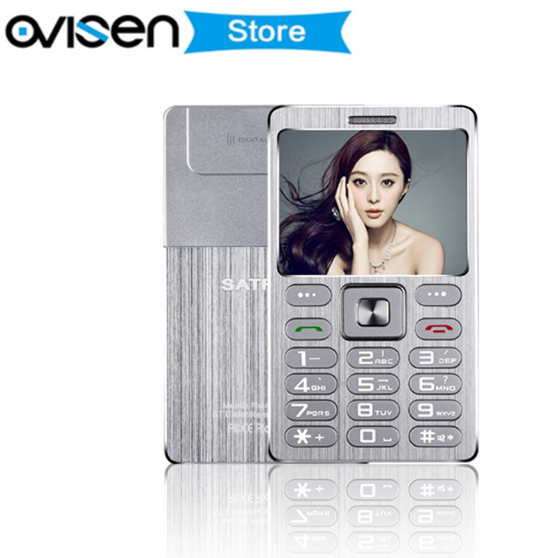 Ultra Thin Credit Card Mobile Phone Fsmart SATREND A10 Dual Sim GSM Metal Body 1 77
