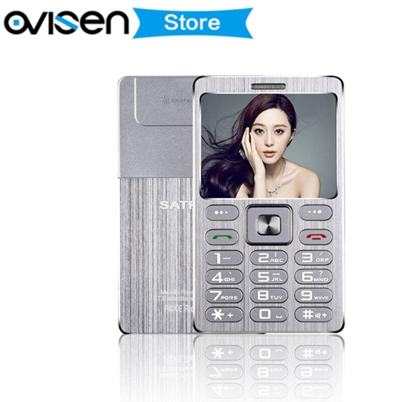 Ultra Thin Credit Card Mobile Phone Fsmart SATREND A10 Dual Sim GSM Metal Body 1 77