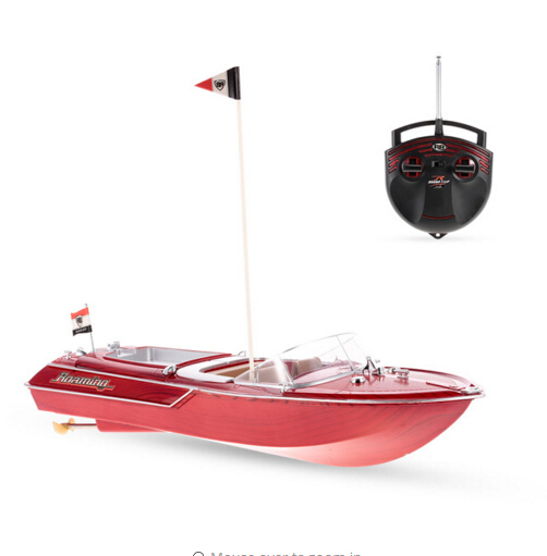 Flytec HQ2011 1 27MHz 2CH 15km/h High Speed Boat Electric RC Boat Ship Radio Control Speedboat barco RC Toys for Children Gifts