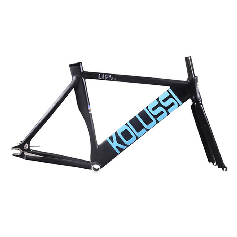 700C frame 48cm 52cm Multicolor Aluminum alloy Fixie Frame And Fork Fixed Gear Fork Fixed Gear aluminum frame fork professional 7005 aluminum alloy tube clap long track ice blade 64hrc high quality dislocation skate shoes knife 1 1mm frame