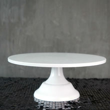 SWEETGO גרנד בייקר עוגת Stand 12 אינץ לבן חתונה כלים פונדנט בישול אספקה לקשט עוגת קינוח שולחן פופס
