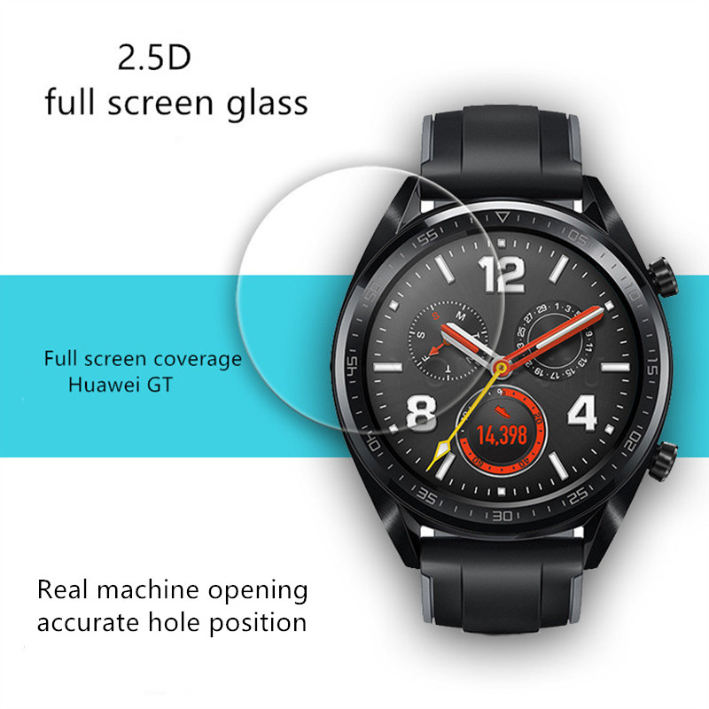 2PCS 3D For Huawei Watch GT Tempered Film For Watch GT Watch Tempered Glass Film Smart Sports Watch Film
