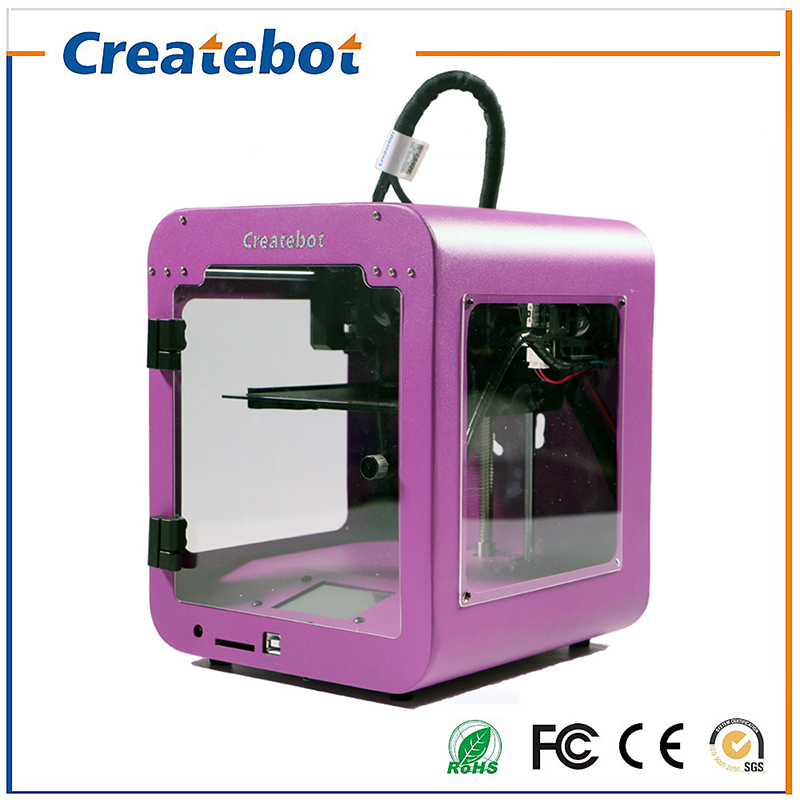 Newest Arrival High Precision Easy LCD Control Metal Frame Createbot super mini 3d printer kit Single Extruder 3d Impressora