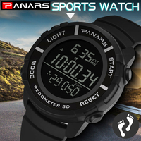 PANARS Sports Watches Digital Led Stopwatch Male Clock Gift for Men Diving Shock Diver Watch Simple Waterproof Large Face 8108