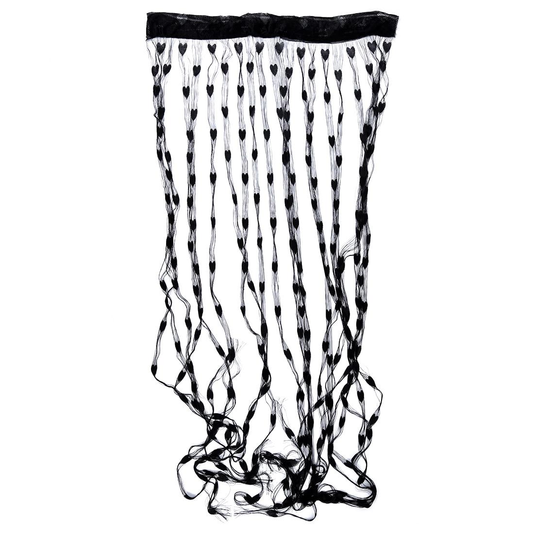 pratique mode frange corde noir coeur ecran porte rideau maison fenetre decor salon separe rideau aliexpress