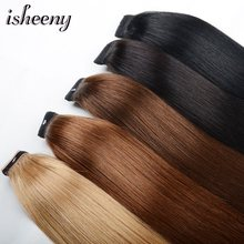 "Paardenstaart Remy Human Hair 14 ""18"" 22 ""Straight Kapsels 60g 100% Natural Hair Clip in Extensions(China)"