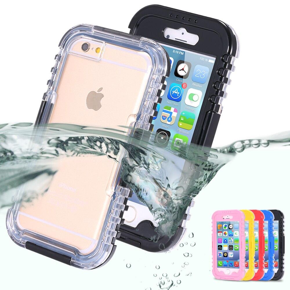 IP-68 Waterproof Heavy Duty Hybrid Swim Diving Case For Apple iPhone 7 WaterDirtShock Proof Cell Phone Bags For iPhone 7 Plus