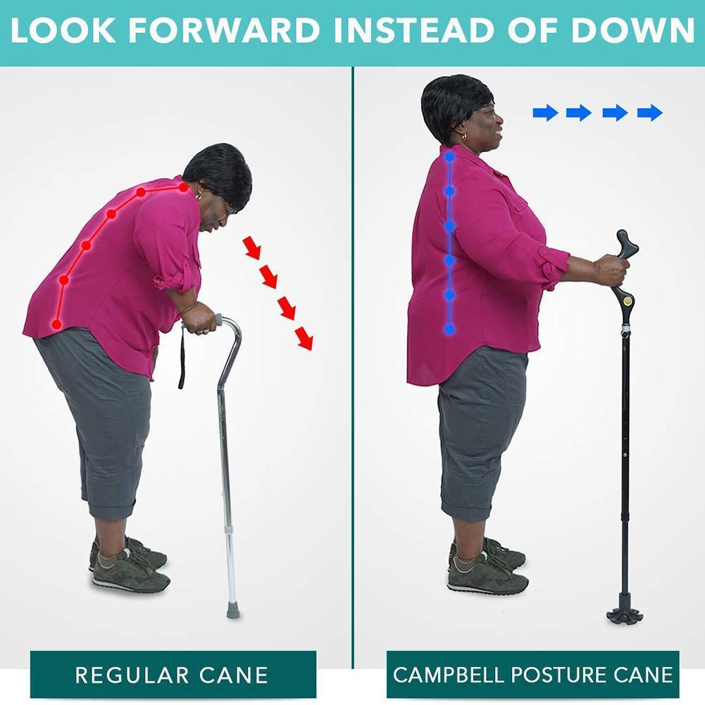 Safety Elderly Walking Stick Telescopic Canes Crutch Staff Folding Grip Hiking Walk Mens Lightweight cane hiking poles crutches in Crutch from Beauty Health