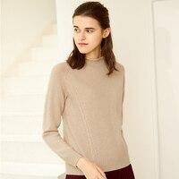 Женский кашемировый свитер с высоким воротом