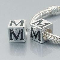 Alfabeto DIY 925 prata encantos Beads serve Chamilia Biagi europeu pulseira