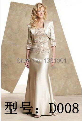 cdb23f2ec5d Petite Mother Of The Bride Gown 2015 Long Social Dress To Wedding Champagne  Mother Of The Groom Dresses With Jacket Store D008