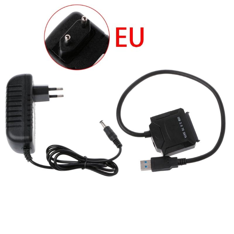 """Универсальное зарядное USB устройство с 3,0 SATA адаптер кабель Европейская версия для 2,"""" 3,5"""" жесткий диск SSD, Blu-Ray DVD/CD-ROM/DVD-ROM MAR20"""