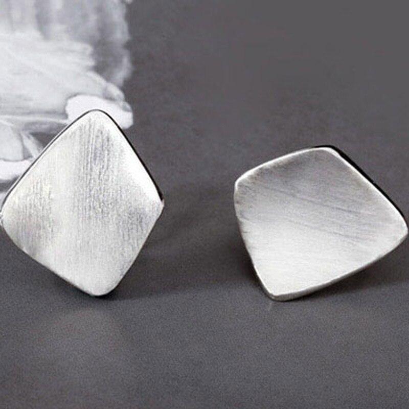 SA SILVERAGE 925 pendientes de la plata esterlina geométrica fiesta pendientes de joyería fina para las mujeres joyería fina 8,85g/25mm * 20mm - 3