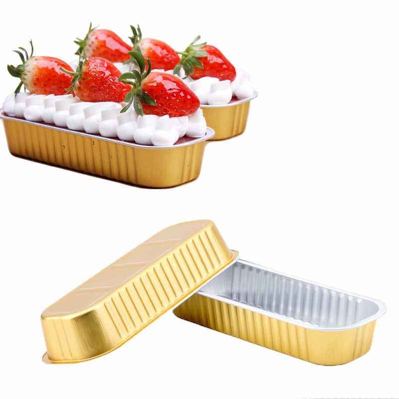 Non-Stick Tinfoil Food Bowl Cake Bread Mold Aluminum Foil Bakeware Loaf Pan Fruit Cheese Box Doggy Box Lunch Breakfast Container