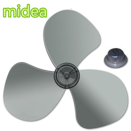 1pcs Big wind 16 inch 400mm plastic fan blade brand big wind 16inch 400mm plastic fan blade 3 leaves replacement for midea and other fans househould appliance fan accessories