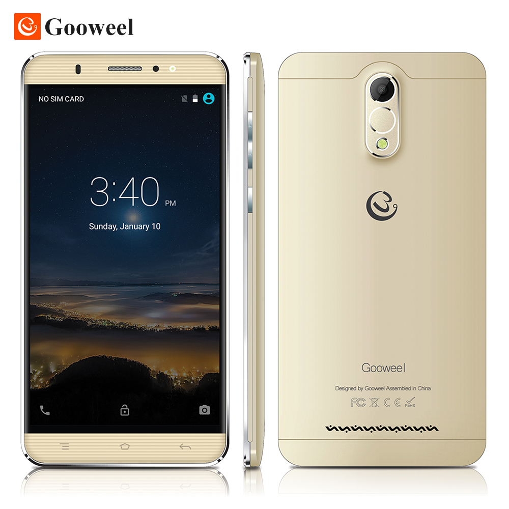 Gooweel M3 3G Smartphone 6.0 inch IPS Screen MTK6580 Quad core Cell phone 1GB Ram 8GB Rom 8MP camera GPS Mobile phone free case