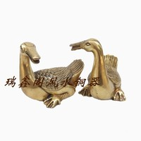 Bronze statue copper ducks decoration pair of the duck mascot home decoration crafts gift