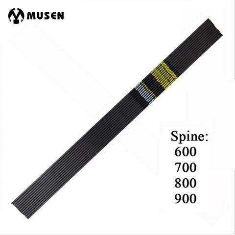 puro haste da flecha de carbono espinha 600 700 800 900 comprimento od 5 7
