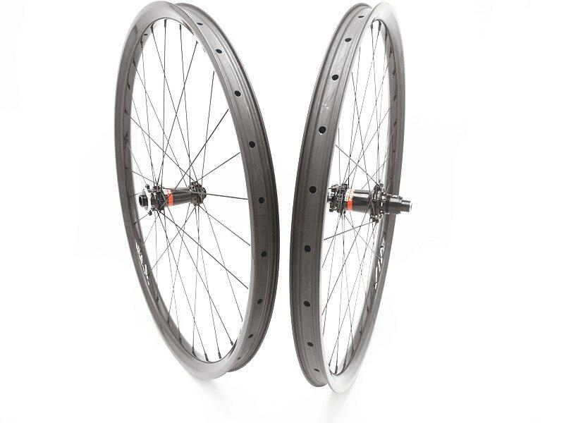 29er mtb ruote 35mm UD hookless AM ruote MTB del carbonio XDS641 XDS642 boost XD 1420 raggi MTB della bici ruote tirare dritto 6 artiglio