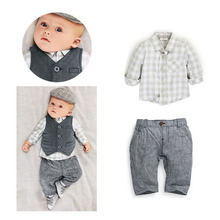Roupa Infantil Menino Handsome Baby Jongens Kleding Spring Fashion Roupas Infantil Three Piece Baby Boy Clothing