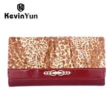 Роскошные женщины кошельки долго патент кожаный бумажник дизайнер бренда леопарда кошелек дамы сцепления женщина кожа carteira мешок