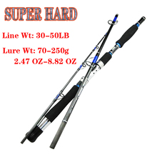 superhard carbon spinning boat jigging lure fishing rod short hard travel stick lure wt:70 250g line wt:30 50lb for seafishing