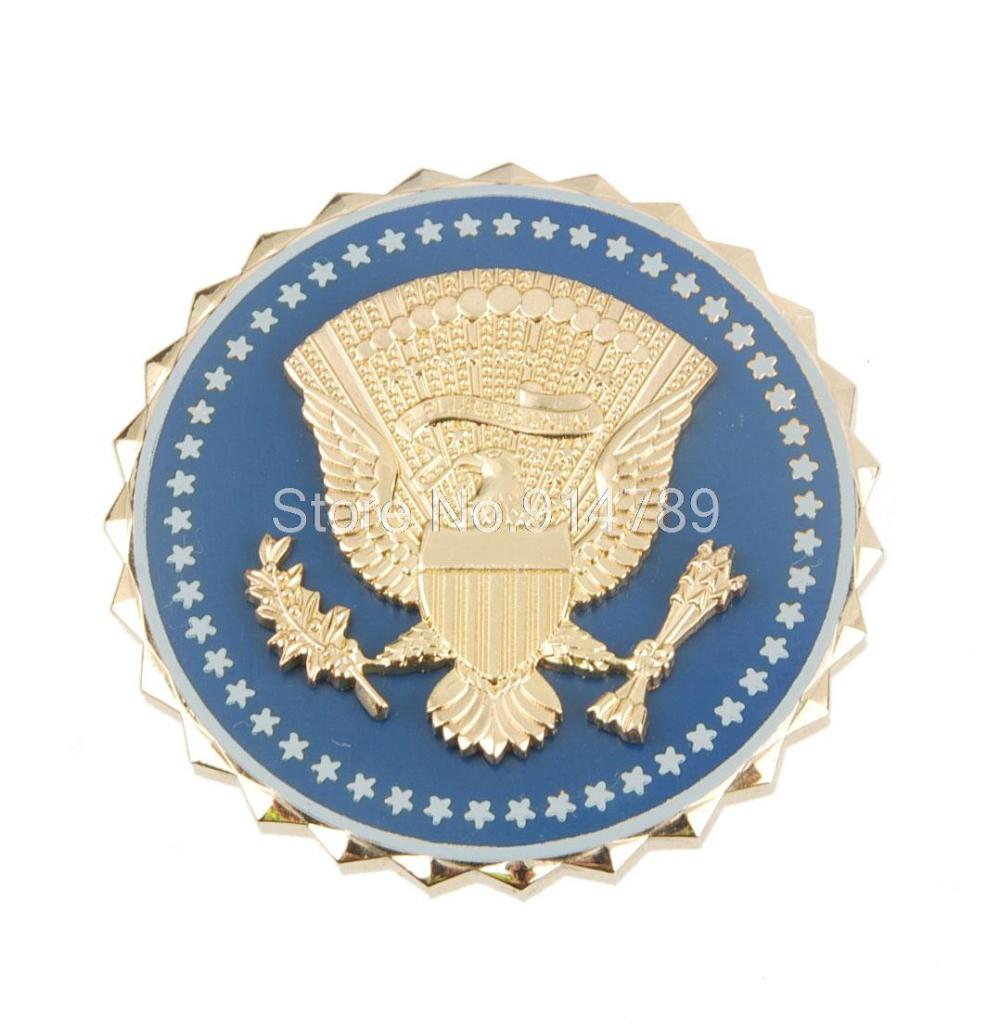 US PRESIDENTIAL SERVICE PRESIDENT IDENTIFICATION METAL BADGE PIN-34194