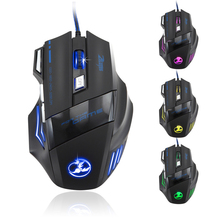 Cool 5500 DPI 7 Button LED Optical USB Wired Gaming Office Mouse Mice For Pro Gamer Desktop Laptop PC