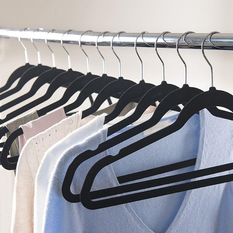 Hangerlink Чорні бархатні вішалки, - Організація і зберігання в будинку - фото 6