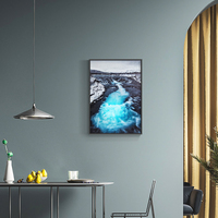 Induction lamp painting Mountain Canvas Painting Seascape Wall Art Posters and Prints Nordic Decoration Wall Pictures for Living