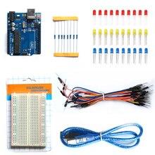 Alta Calidad Uno Compatible Set Kit Profesional Kit de UNO De UNO R3 Starter Kit Completo