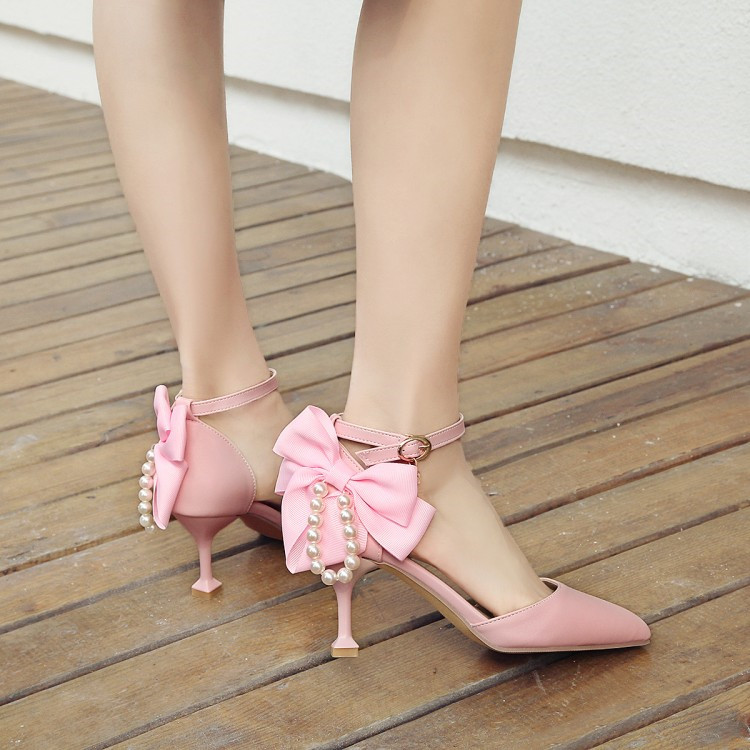 34 Encantador Nudo Rojo Novia Rosa Sandalias Tacones Zapatos CBeorxd